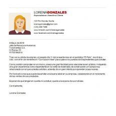 Carta de presentación laboral