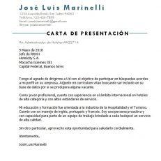 Carta de presentación para currículum vitae