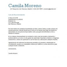 Carta de recomendación para empresa