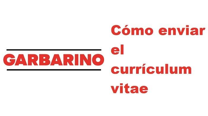 Enviar el currículum a Garbarino